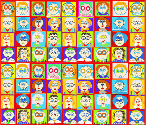 SOOBLOO_NEW_FACES_APRIL fabric by soobloo on Spoonflower - custom fabric