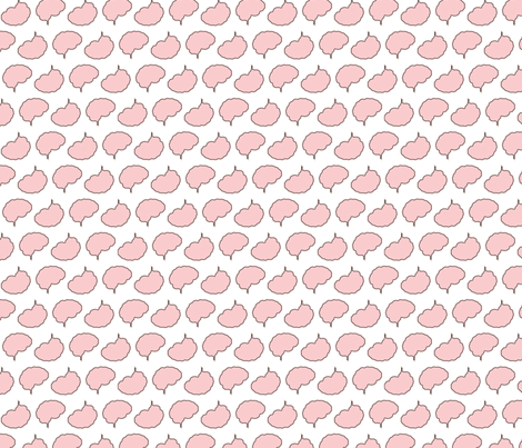 Outline | Provincial Pink fabric by handmadephd on Spoonflower - custom fabric