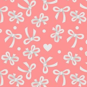 White Bows on Pink
