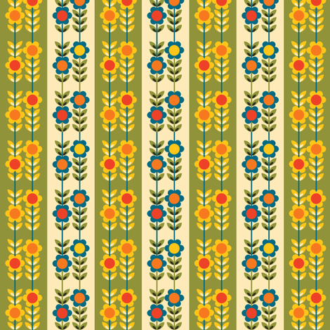 Jolly Journals Floral Green fabric by paula's_designs on Spoonflower - custom fabric