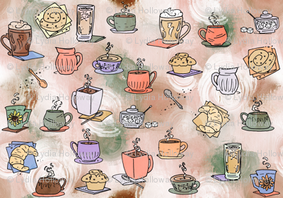 Coffee Time Large Print