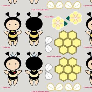 Bugaboo Doll - Golden Honeysuckle Flower Honey Bee
