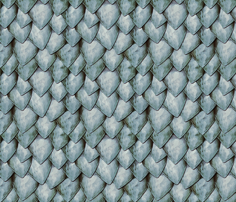 Silvery Dragon Scales fabric by xoxotique on Spoonflower - custom fabric
