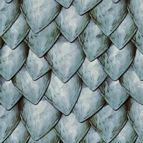 Silvery Dragon Scales