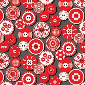 Red and  White Buttons