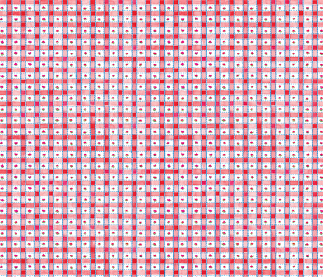Red Plaid fabric by susanbranch on Spoonflower - custom fabric