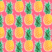 Tropical Geometric Pineapple - Pink