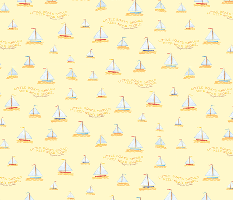 Sail Boats- Yellow fabric by susanbranch on Spoonflower - custom fabric