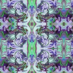 BNS6 - Marbled Mystery Tapestry in Blue - Green - Purple - Lavender - large scale