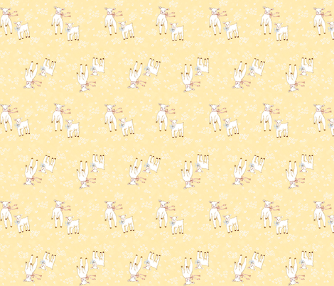 Lambs Yellow fabric by susanbranch on Spoonflower - custom fabric