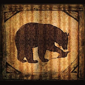 Brown Bear with a carved wood look