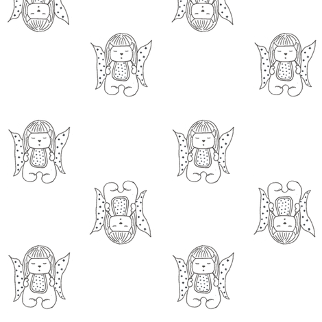 Little Mal Sleeping Pal Fabric fabric by studiojbr on Spoonflower - custom fabric