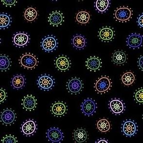 Nedra: Ditsy Dot Circles!