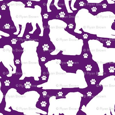 Pugs n Paws - Purple // Large