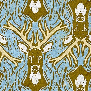 Woodblock Buck 2