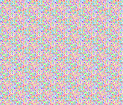 Rainbow Confetti on Snowy White - Tiny Dots fabric by rhondadesigns on Spoonflower - custom fabric