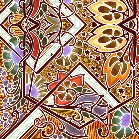 Stained Glass Autumn fabric by edsel2084 on Spoonflower - custom fabric