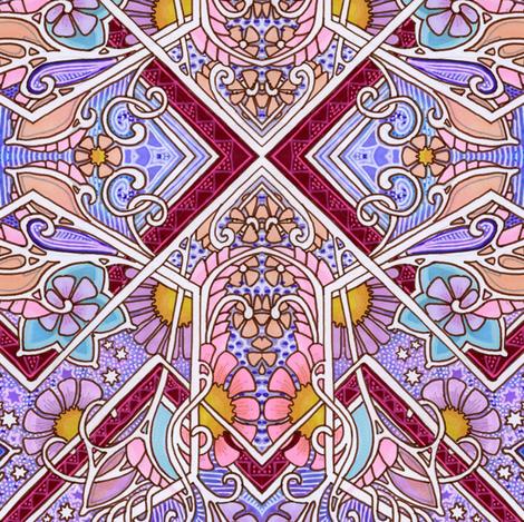 Big Color Garden fabric by edsel2084 on Spoonflower - custom fabric