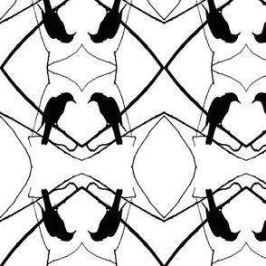 Robin Pattern 1 (B & W)