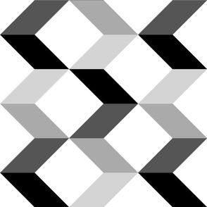 Large Modern Chevron Arrows // Black & Gray
