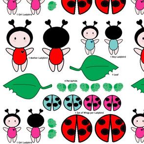 Bugaboo Dolls - Ladybird Family