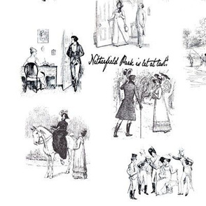 Pride and Prejudice Toile Black