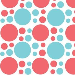 turquoise_coral_polka_dot