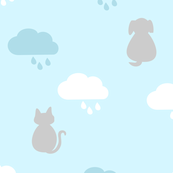 Raining Cats & Dogs - Blue