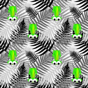 Garry the Grasshopper on Monochrome