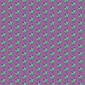 Business Bird - purple & mint