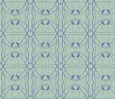 Robin Pattern 2 (Slage & Blue) fabric by belovedsycamore on Spoonflower - custom fabric