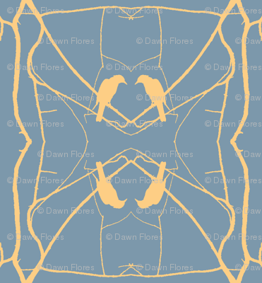 Robin Pattern 2 (Slate & Yellow)