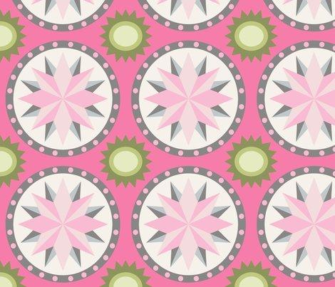 carreaux de ciment etoile pink fabric nadja petremand spoonflower. Black Bedroom Furniture Sets. Home Design Ideas