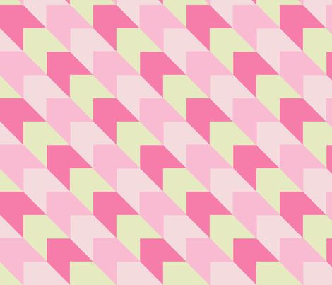 cubist_fleche_pink_pink_M fabric by nadja_petremand on Spoonflower - custom fabric