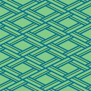 Woven rhombus