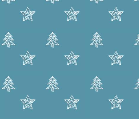 Christmas 1 Blue fabric by mareikeböhmer on Spoonflower - custom fabric