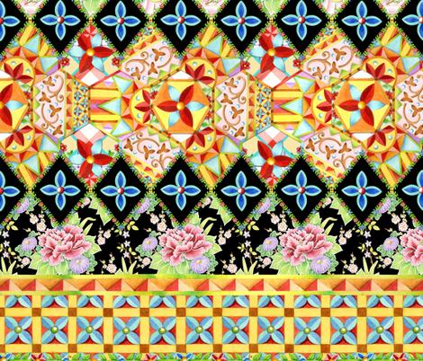Folkloric Crazy Quilt Boho fabric by patriciasheadesigns on Spoonflower - custom fabric