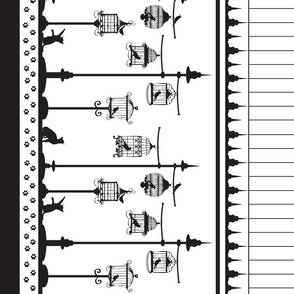 Black and White Birdcage border