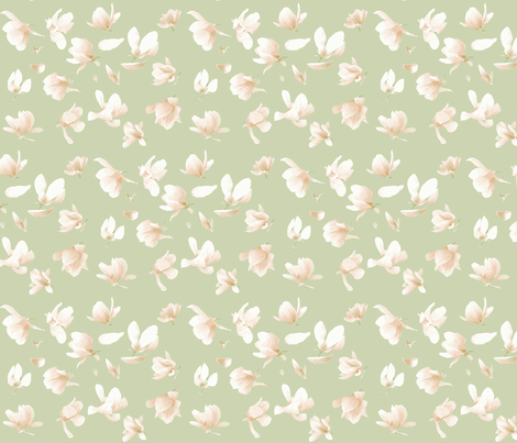Tulip Magnolia (Sage) fabric by belovedsycamore on Spoonflower - custom fabric