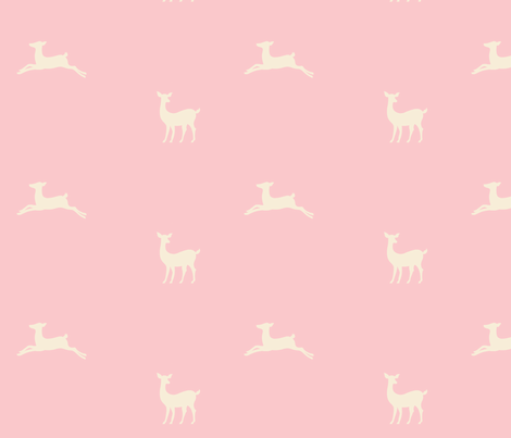 Deer 2 - pink cream fabric by drapestudio on Spoonflower - custom fabric
