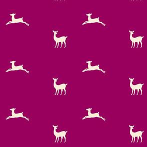 Deer 2 - plum cream