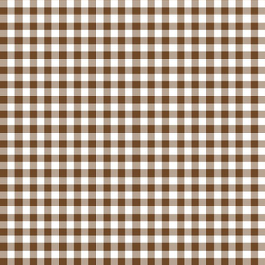 Mini Gingham Brown