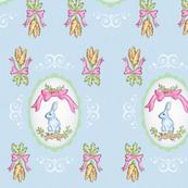 Watercolor Rabbit and Carrots