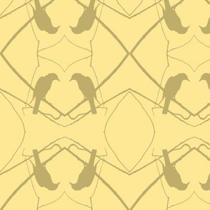 Robin Pattern 1 (Creamy Yellow)