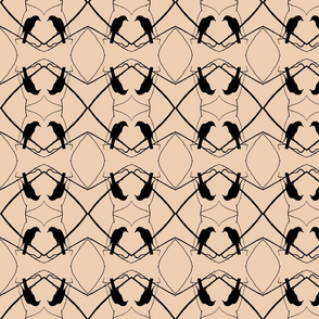 Robin Pattern 1 (Beige & Black)