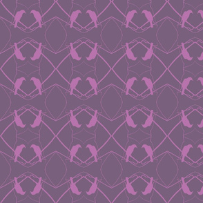 Robin Pattern 1 (Plum & Plum)