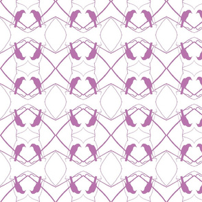 Robin Pattern 1 (White & Plum)