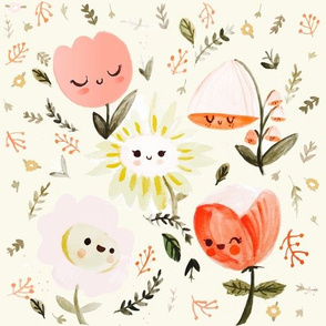 Happy Flowers - Small (1/2 Size)