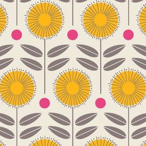 flower shower - yellow and pink
