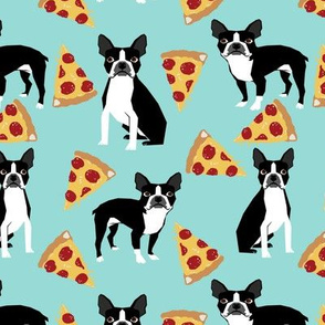 boston terrier dog dogs pizza food trendy food print bostons boston terrier dogs
